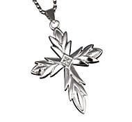 иисус крест кулон, титана ожерелье - серебряный крест