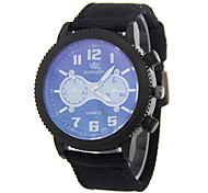 Men's Woven Military Sports Personality Gear Dial Quartz Watch
