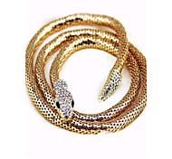 European and American punk fashion female full diamond snake wrap bracelet
