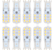 3W G9 2-pins LED-lampen T 14 SMD 2835 300 lm Warm wit / Koel wit Dimbaar AC 220-240 / AC 110-130 V 10 stuks
