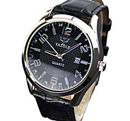Unisex Art und Weise der Quarzarmbanduhr der beiläufigen Uhren Ledergürtel einfache runde Legierung kühlen Uhren einzigartige Uhren