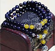 Fashionable Blue 72cm Round Strand Bracelets