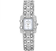 Mujer Reloj de Moda / Reloj de Pulsera / Reloj Pulsera Cuarzo Reloj Casual Aleación Banda Encanto Plata Marca-