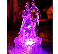 coloridas recién casados luz de la noche