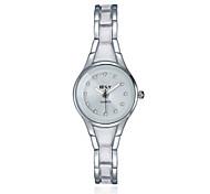 jewelora Mulheres Relógio Elegante Relógio de Moda Quartzo Relógio Casual Resistente ao Choque Lega Banda Vintage Prata Prata