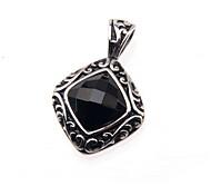 316L Stainless Steel Pendant On Black Diamond Lovers