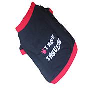 Perros Camiseta Rojo Ropa para Perro Verano Letra y Número / Geométrico