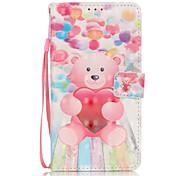pu couro balão de pintura caixa do telefone material em 3D padrão de urso para Samsung Galaxy Note 5
