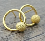 Female Sanded Circle Earrings