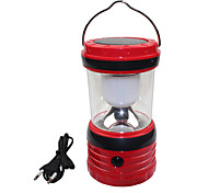 USB Output Solar 6 LED White Outdoor Camping Hiking Lantern Tent Lamp Light