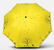 en parte, de doble plegado paraguas estudiantes coreanos superfosfato triple filtro solar UV paraguas sombrilla de vinilo femenina
