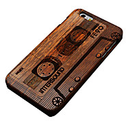 iPhone 7 Plus Pear Wood Magnetic Tape Hard Back Cover for iPhone 6s 6 Plus
