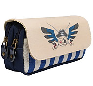 Stationery Versatile Multi-stripe Pirates Canvas Pencil Case