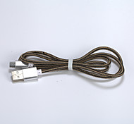 1m V8 Micro USB Tenacity Nylon Data Cable for Samsung and Other Phone
