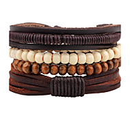 Unisex Fashion Jewelry Bohemia Style Handmade Adjustable Strand Loom Leather Bracelet Casual/Daily Women Men Gift