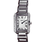 Women's Luxury Crystal Dial Stainless Steel Quartz Watch