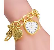 ASJ Women's Fashion Watch Bracelet Watch Japanese Quartz / Quartz Japanese Quartz Alloy Band Heart shape Silver Gold