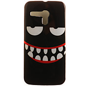 Smiling Face Painting Pattern TPU Soft Case for Motorola Moto G XT1028/XT1031/XT1032