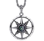 en forme de boussole collier pendentif de kalen®stainless acier à la mode bijoux pour hommes