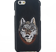 Leather Embroidery Animal Head Phone Case for iPhone 6/6S/6 Plus/6S Plus