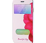 Corpo Completo Auto Dormir/Despertar Desenhos Animados Couro Ecológico Duro Case Capa Para Apple iPhone 6s Plus/6 Plus / iPhone 6s/6