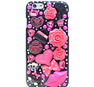 Back Rhinestone Other PC Hard Pink Lip Case Cover For Apple iPhone 6s Plus/6 Plus / iPhone 6s/6