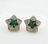 Crystal Rhinestone Alloy Fashion Star Black Green Blue Jewelry Wedding Party Daily Casual Sports 1 pair