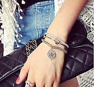 Natural Stone Gem Strand Bracelet with Pendant (Set of 3)