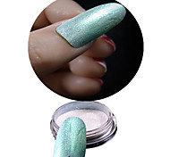 1 Bottle Nail Green Glitter Highlight Shining Symphony Chameleon Mirror Powder And 1 pcs Brush Makeup Nail Beauty NC358