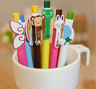 A1221-6 Korea Stationery Animal Wings Rainbow Ballpoint Pen Cartoon 6 Small Fresh Student Prizes