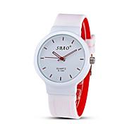 Men's Fashion Quartz Casual Jelly Silicone Multi-Colored Simple Student Watches