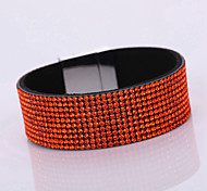 Women's Korean Velvet Full Diamond Simple Plurality Monolayer Magnet Alloy Buckle Bracelet