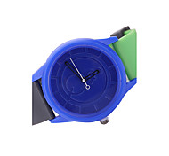 Round Case Candy Color Silicone Band Sports Watch for Men/Women