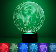Globe Creative Colorful USB 3D Led Night Light