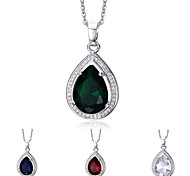 Women's Drop Design Crystal Pendant for Necklace