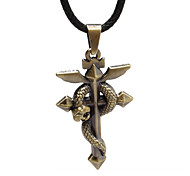 Wow - Bronze Snake Cross Necklace
