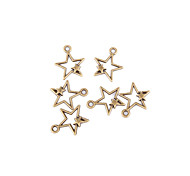 10 pcs DIY Bronze Star Pendant Accessories