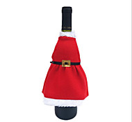 The New High-grade Velvet Christmas Aprons Bottle Sets