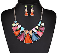 MPL Europe and the United States fashion candy color pearl necklace earrings set