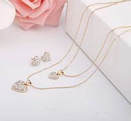 Simple Love Diamond Jewelry Set And Alloy