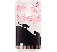 Cat Pattern Pattern Relief Glow in the Dark TPU Phone Case for LG K10/K8/K7/K5