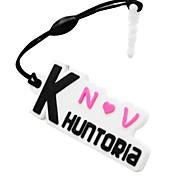 khuntoria teentop logo marca plug de telefone poeira