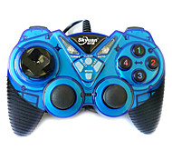 CMPICK W7 Dual Shock Wired Game Controller