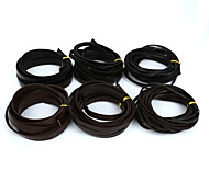 Beadia 5Mts 3x2mm Flat Cow Leather Cord Fit Bracelets
