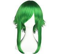 Perucas de Cosplay Vocaloid Gumi Verde Médio Anime Perucas de Cosplay 55 CM Fibra Resistente ao Calor Masculino / Feminino