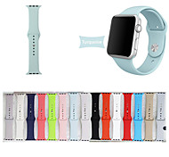 38mm  Silicone Rubber Watchband for Apple Watch