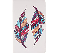 PU Leather Material Colored Feathers Pattern Tablet Sleeve for Galaxy Tab T280/T350/T377/T550/T560/T580/T815