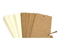Gb43 [CoffeeX] Whole Fillet Blank Bookmark DIY Kraft Paper White Card 24 Into the Punch