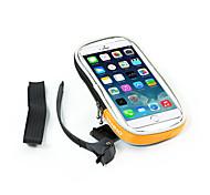 B-SOUL® Saco da bicicleta 0.1LLBolsa para Guidão de BicicletaÁ Prova-de-Água / Lista Reflectora / Touch Screen / Suporte iPhone /