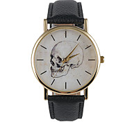 Unisex Fashion Watch Casual Watch Quartz PU Band Charm Black